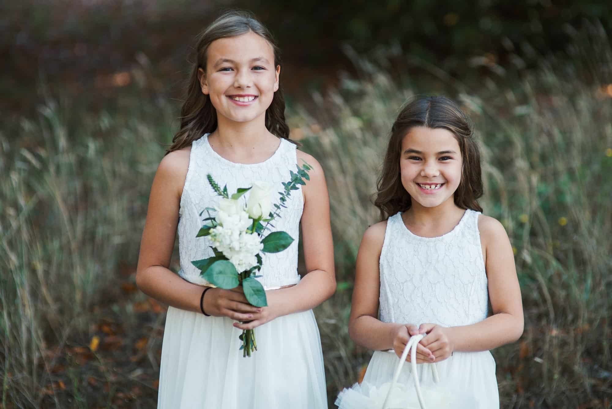 wedding flower girls photography