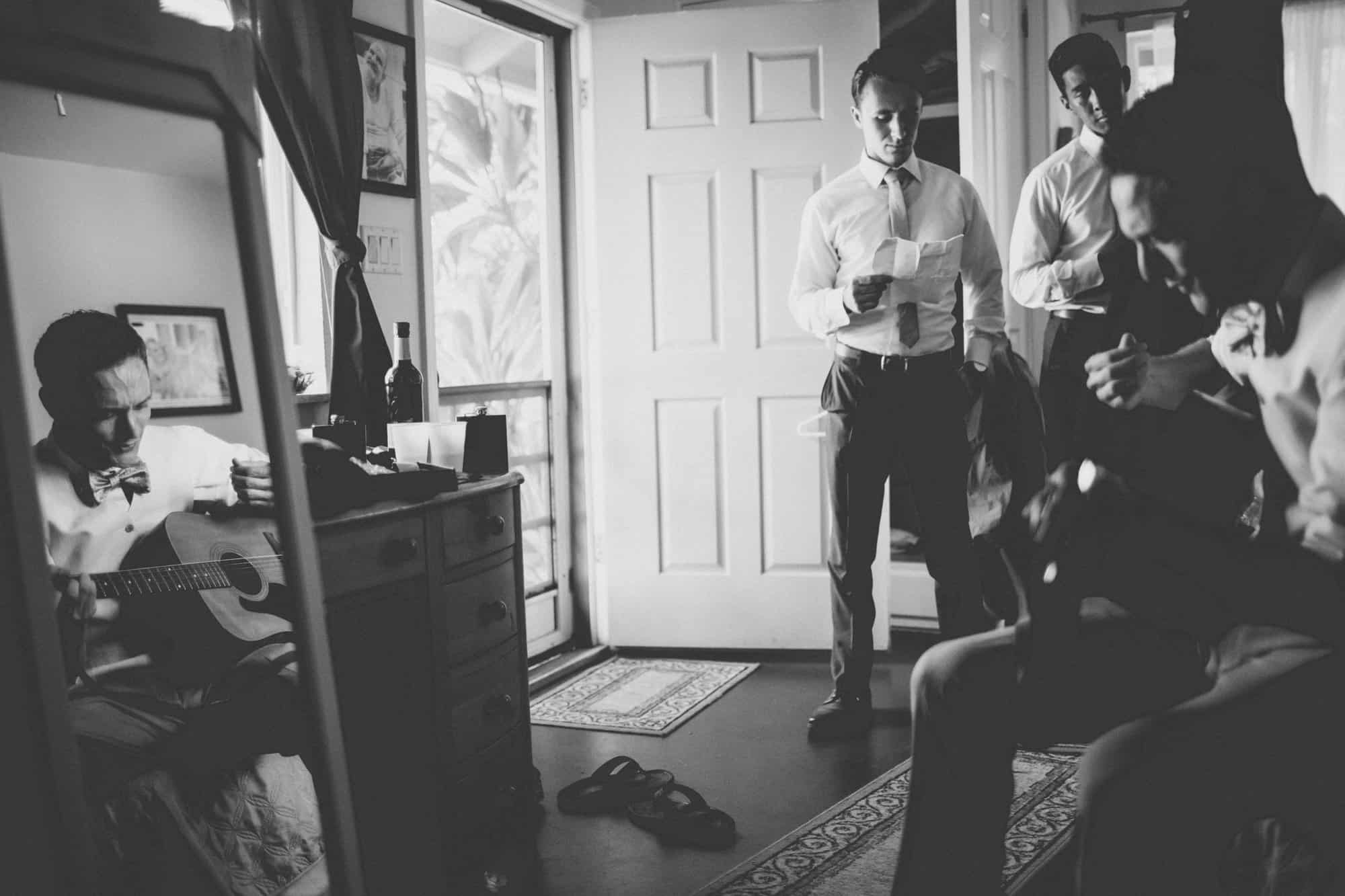 maui wedding photography groom getting ready