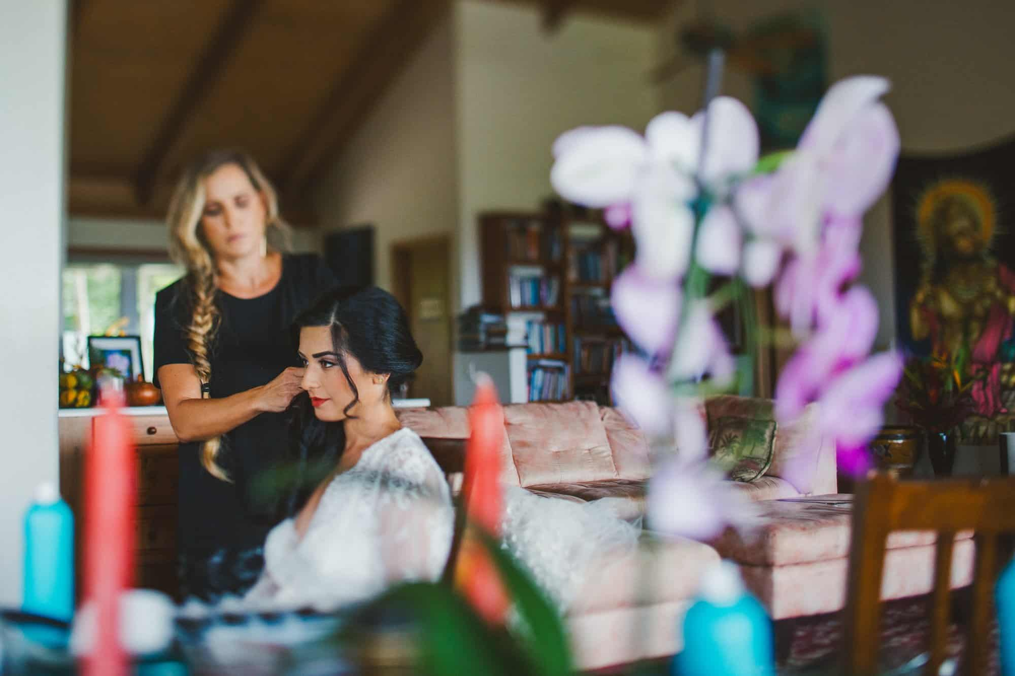 hairstylist maui wedding
