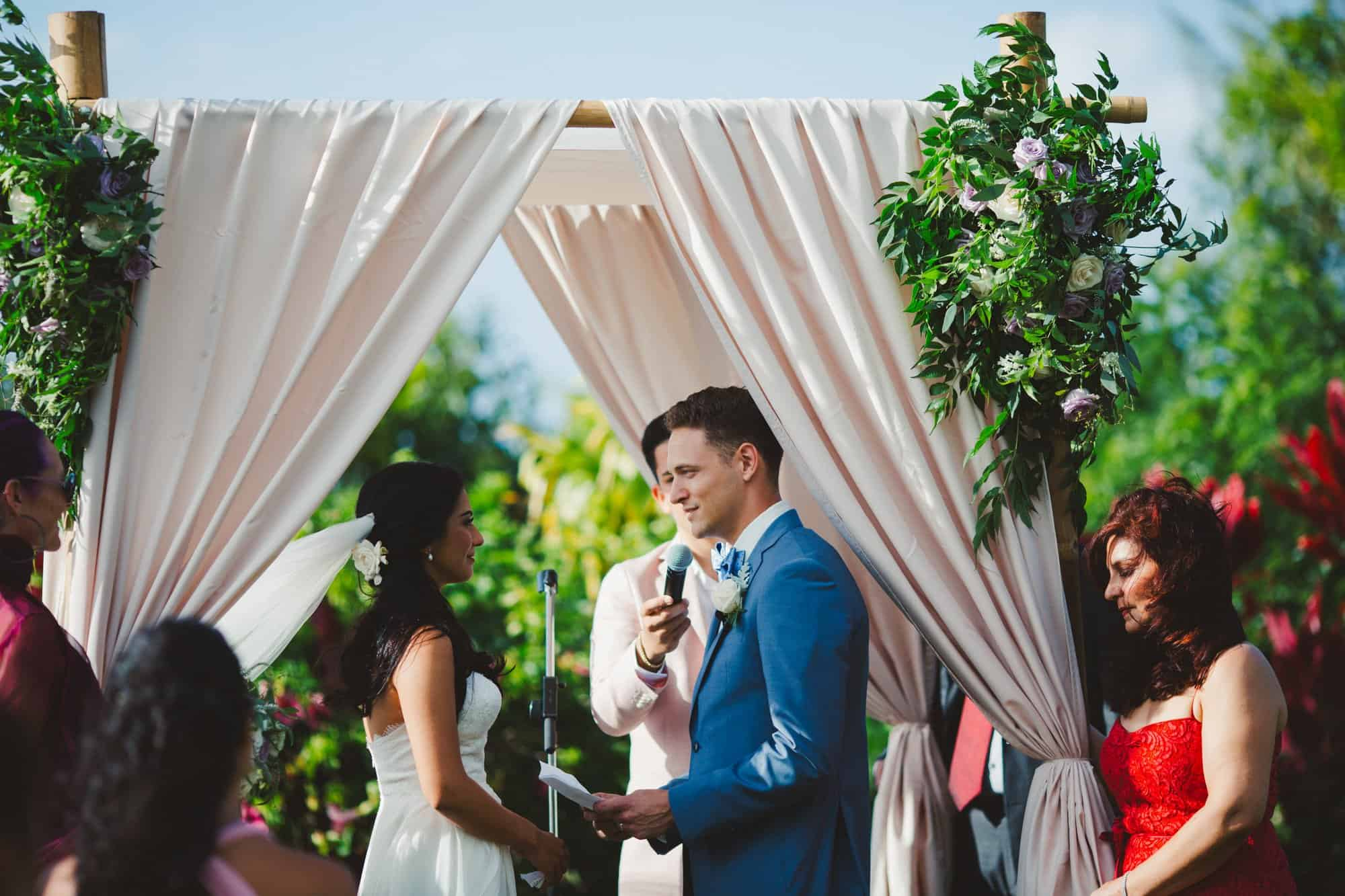 intimate maui wedding ceremony