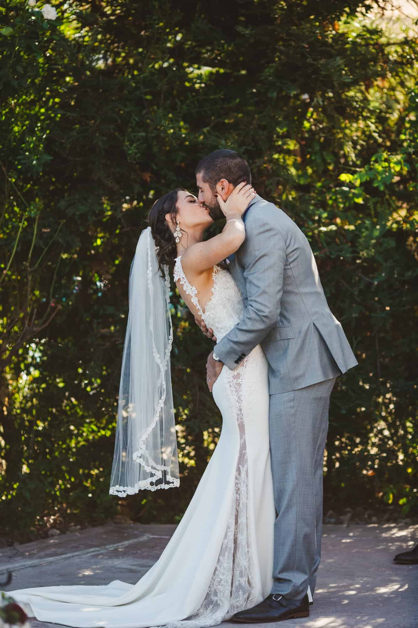 wedding ceremony kiss san luis obispo wedding