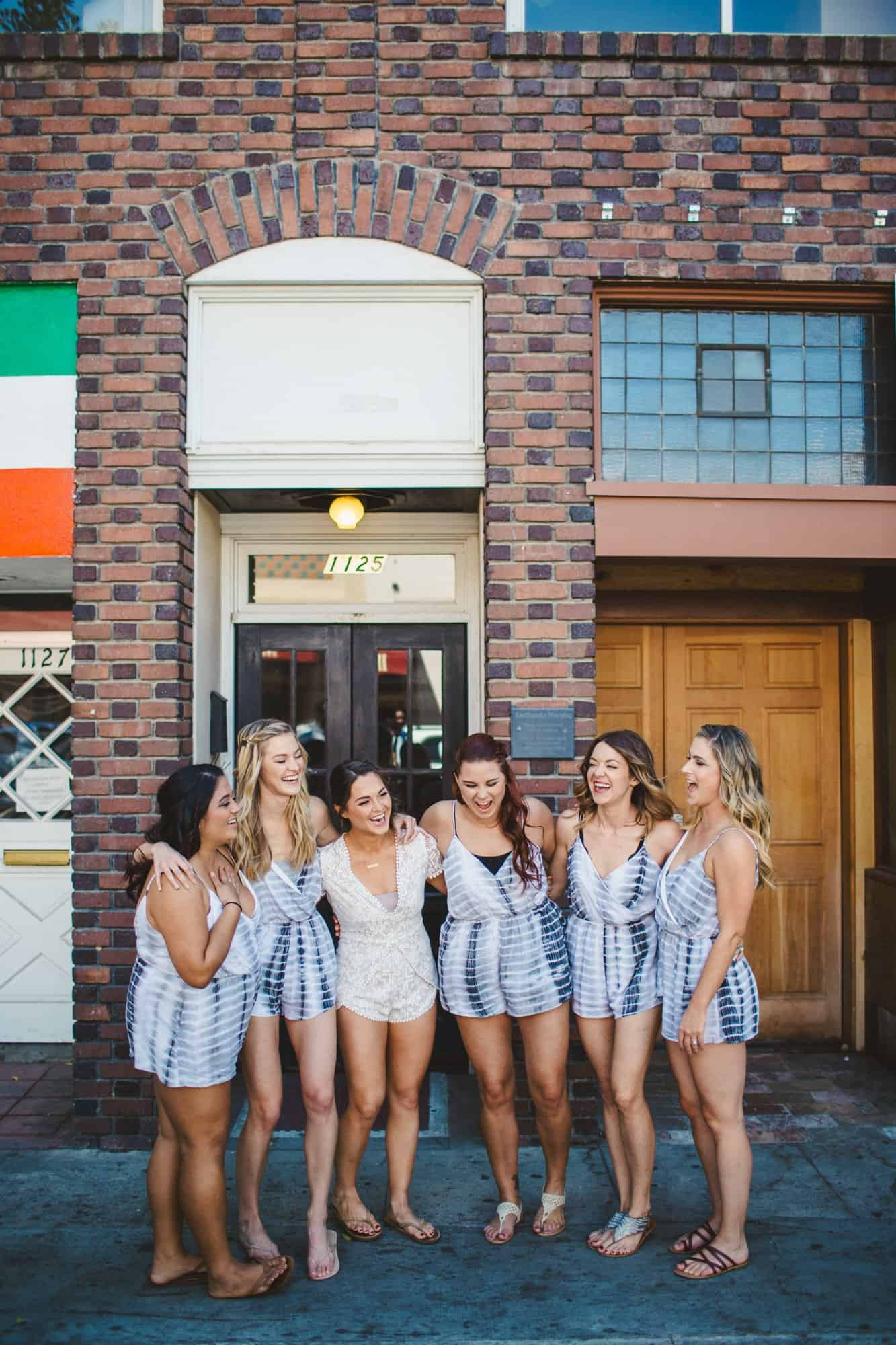 bridal party portraits downtown san luis obispo