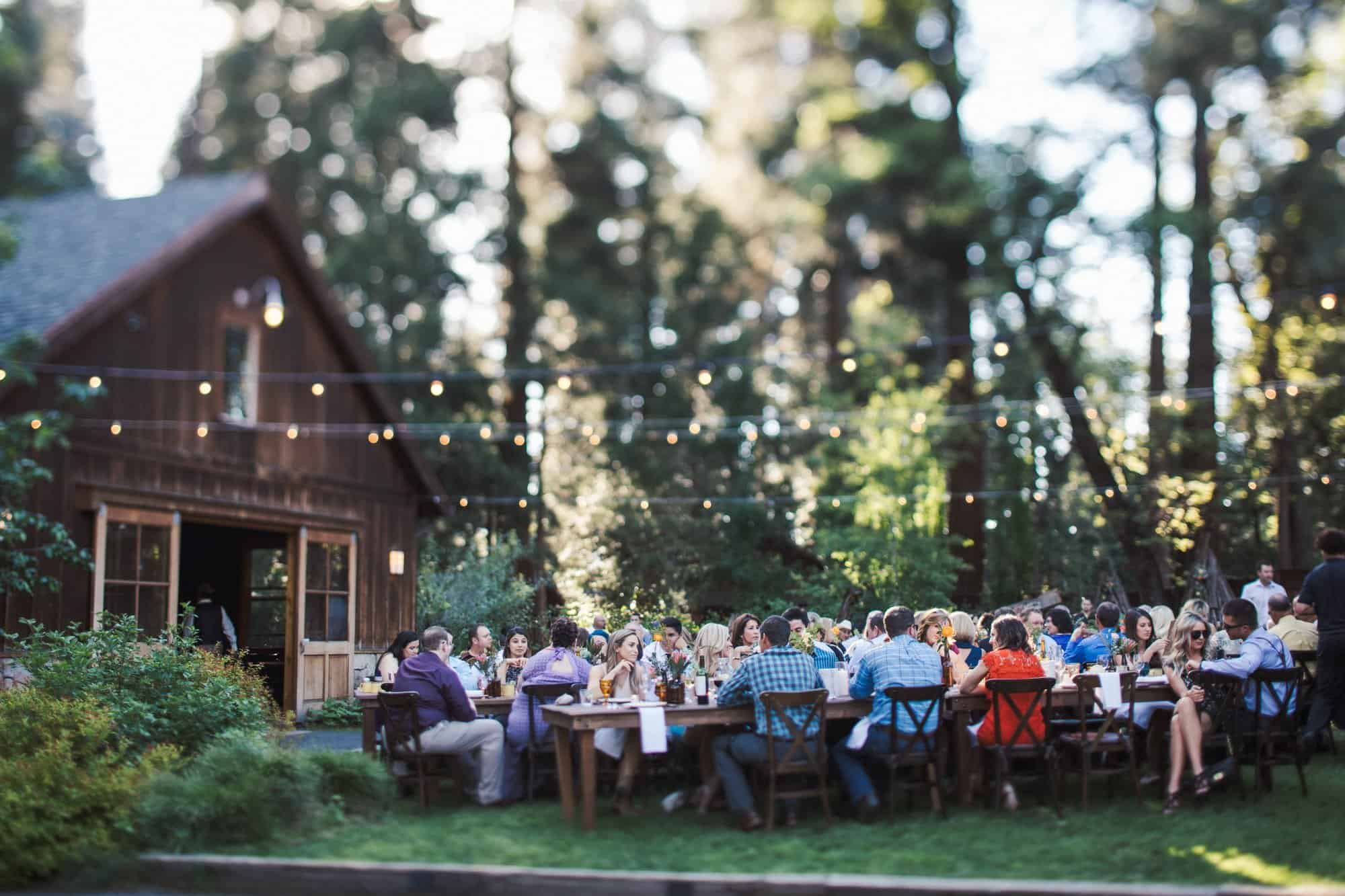 evergreen lodge wedding reception