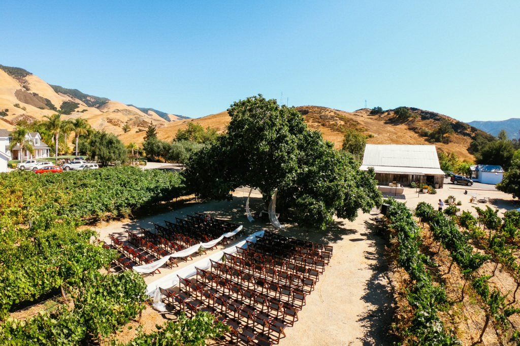 higuera ranch wedding ceremony