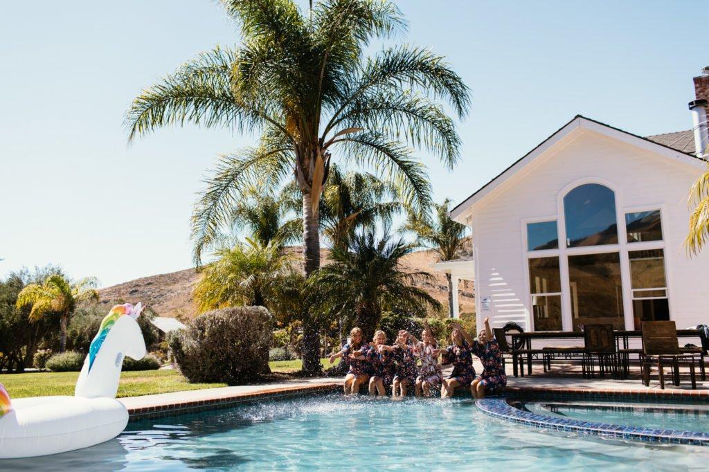 bridal party at higuera ranch