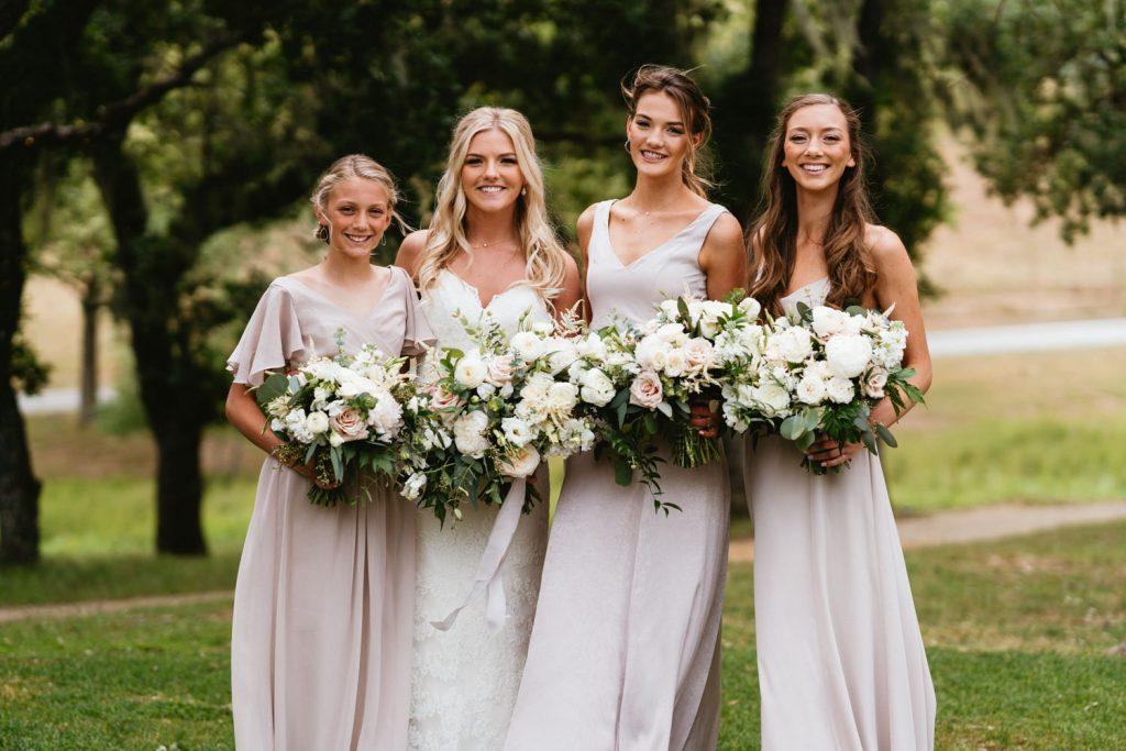 ranch wedding bridesmaids