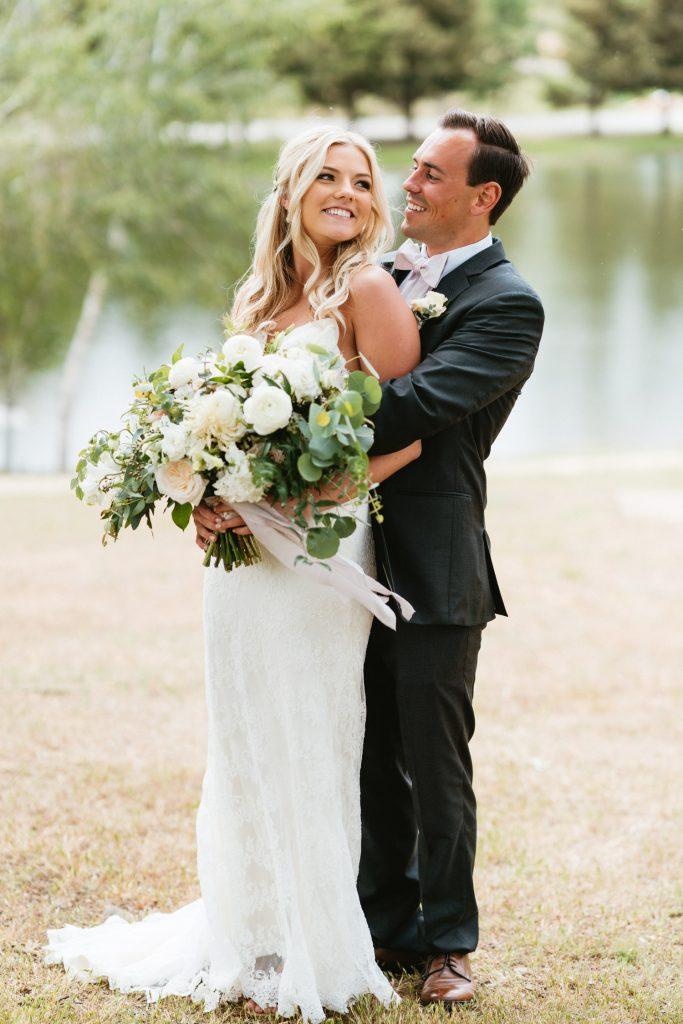 boho ranch wedding portraits