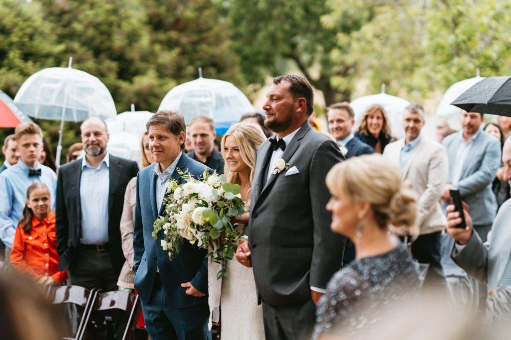 Spanish oaks wedding ceremony
