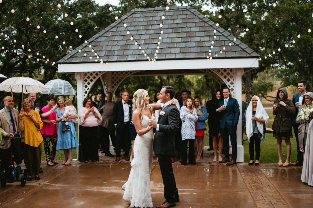 first dance in the rain