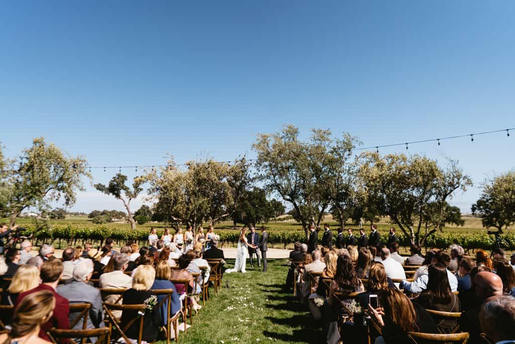 rava wines wedding ceremony