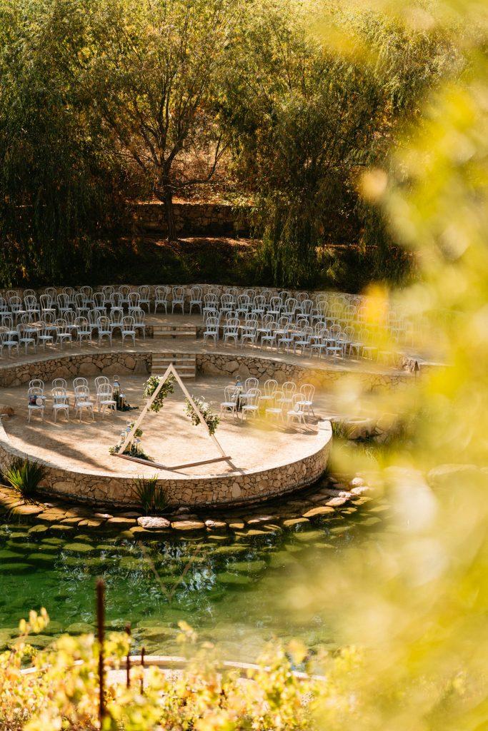 ceremony site at terra mia