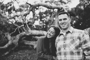 oak trees engagement
