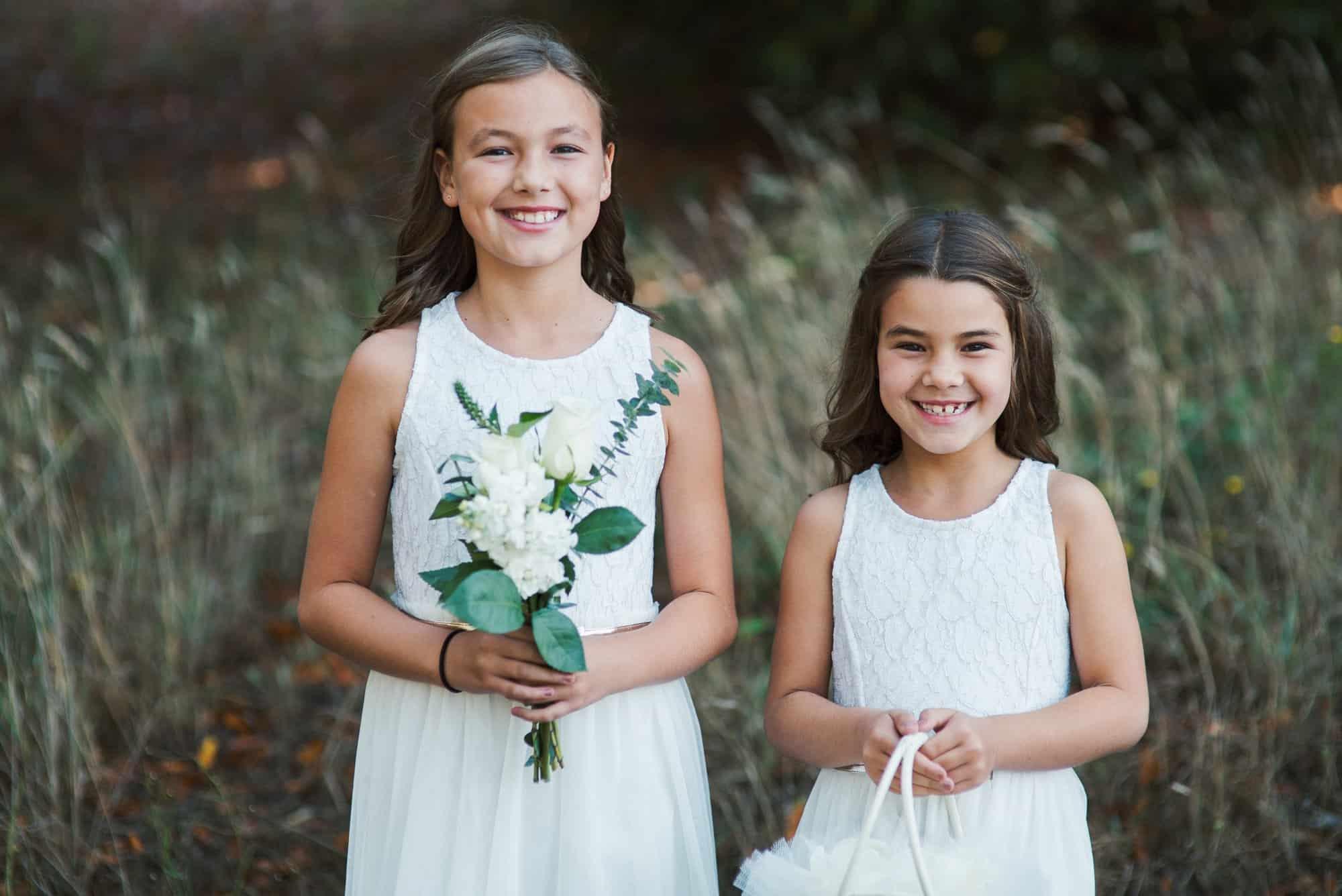 wedding flower girls photography