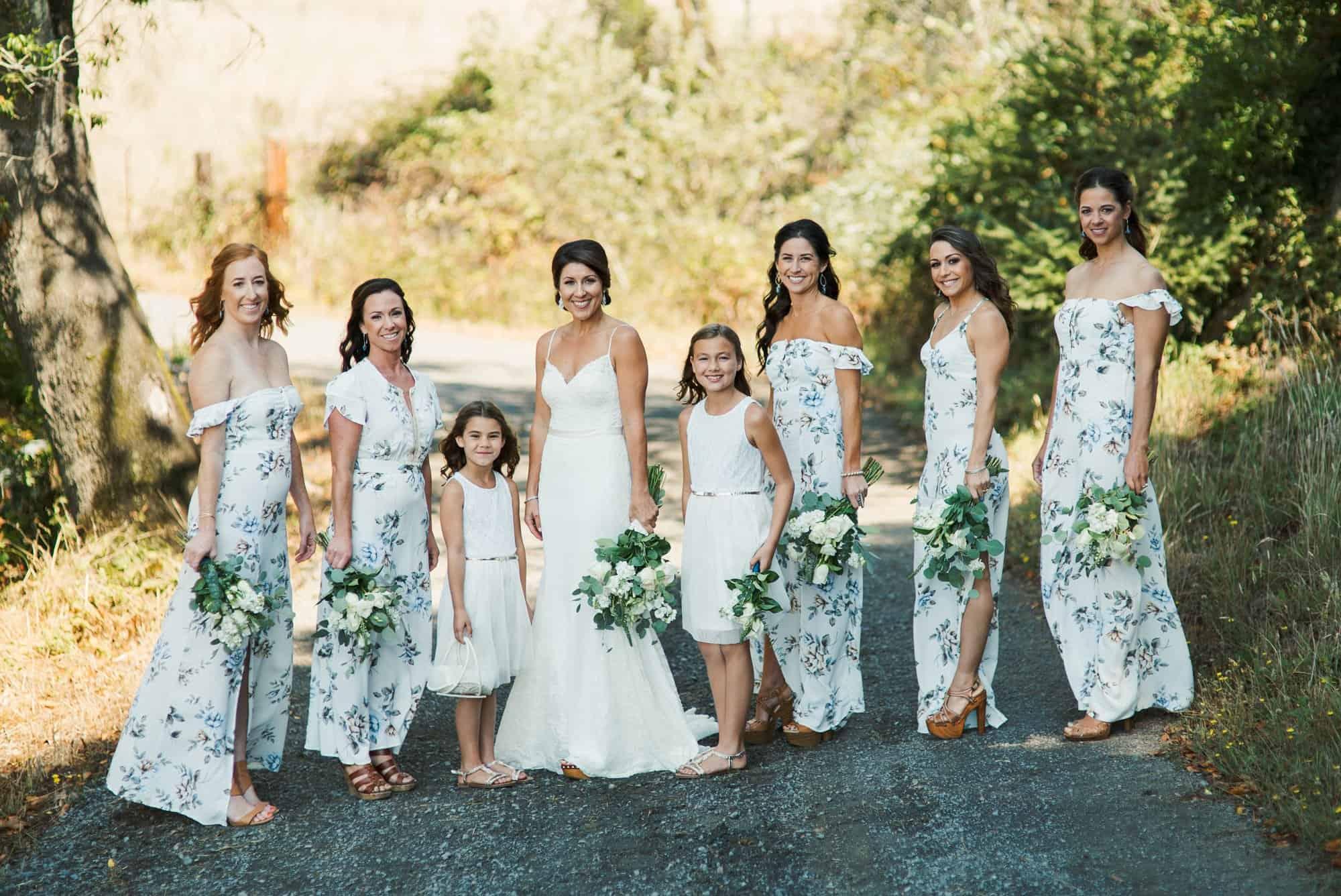 wedding bridesmaids photos