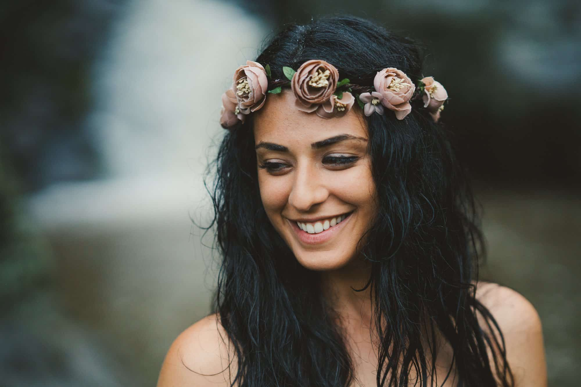 wedding flower crown in maui
