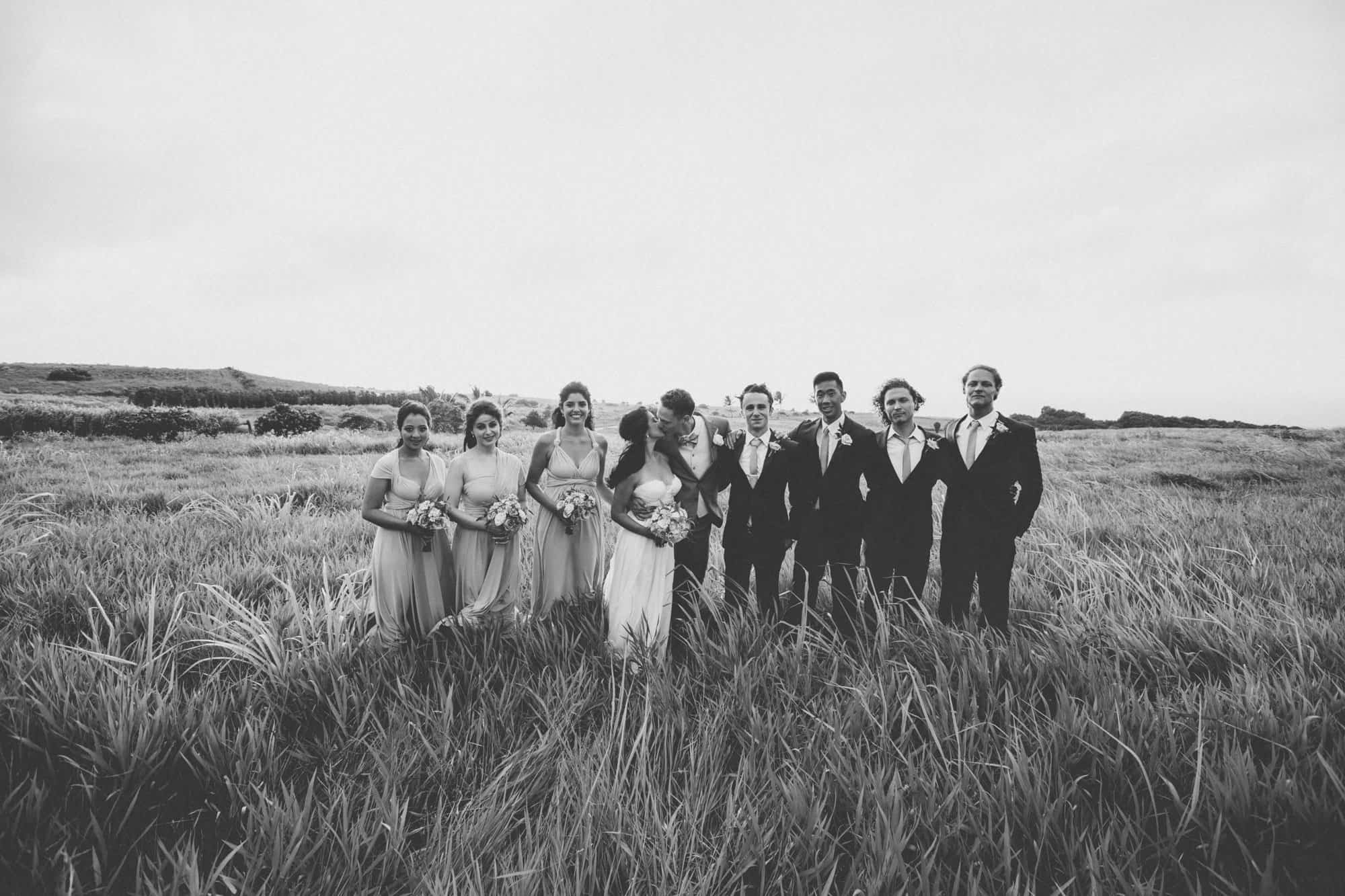 maui wedding party photos