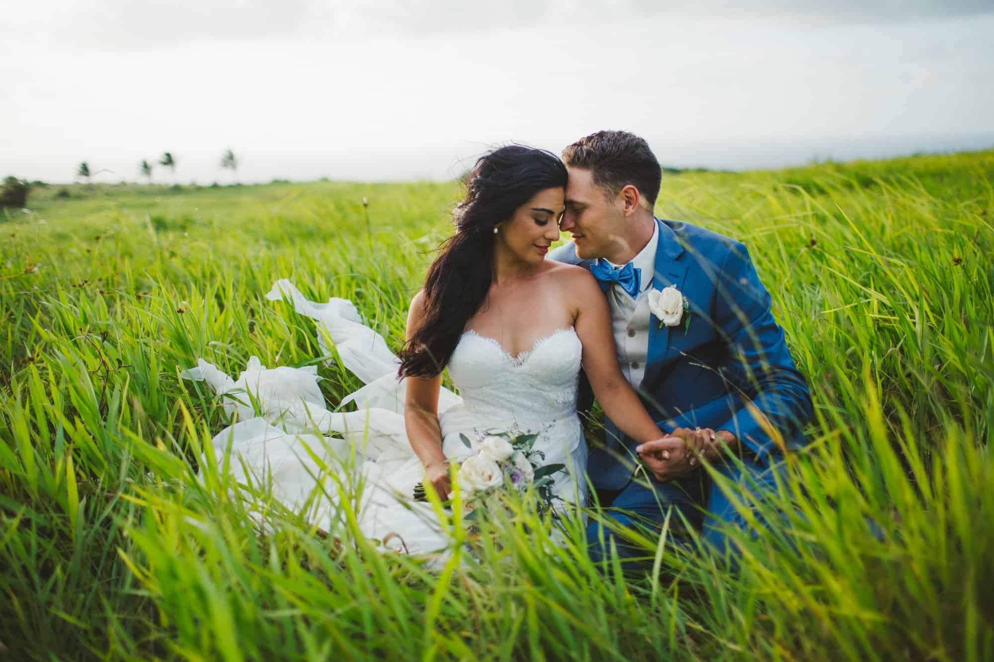 outdoor wedding portraits in maui