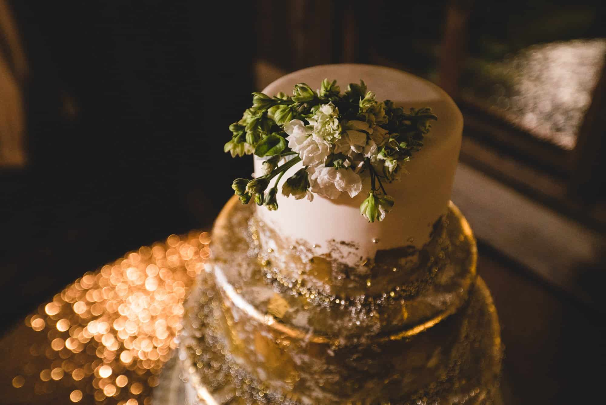 Fresno Barn Wedding Cake