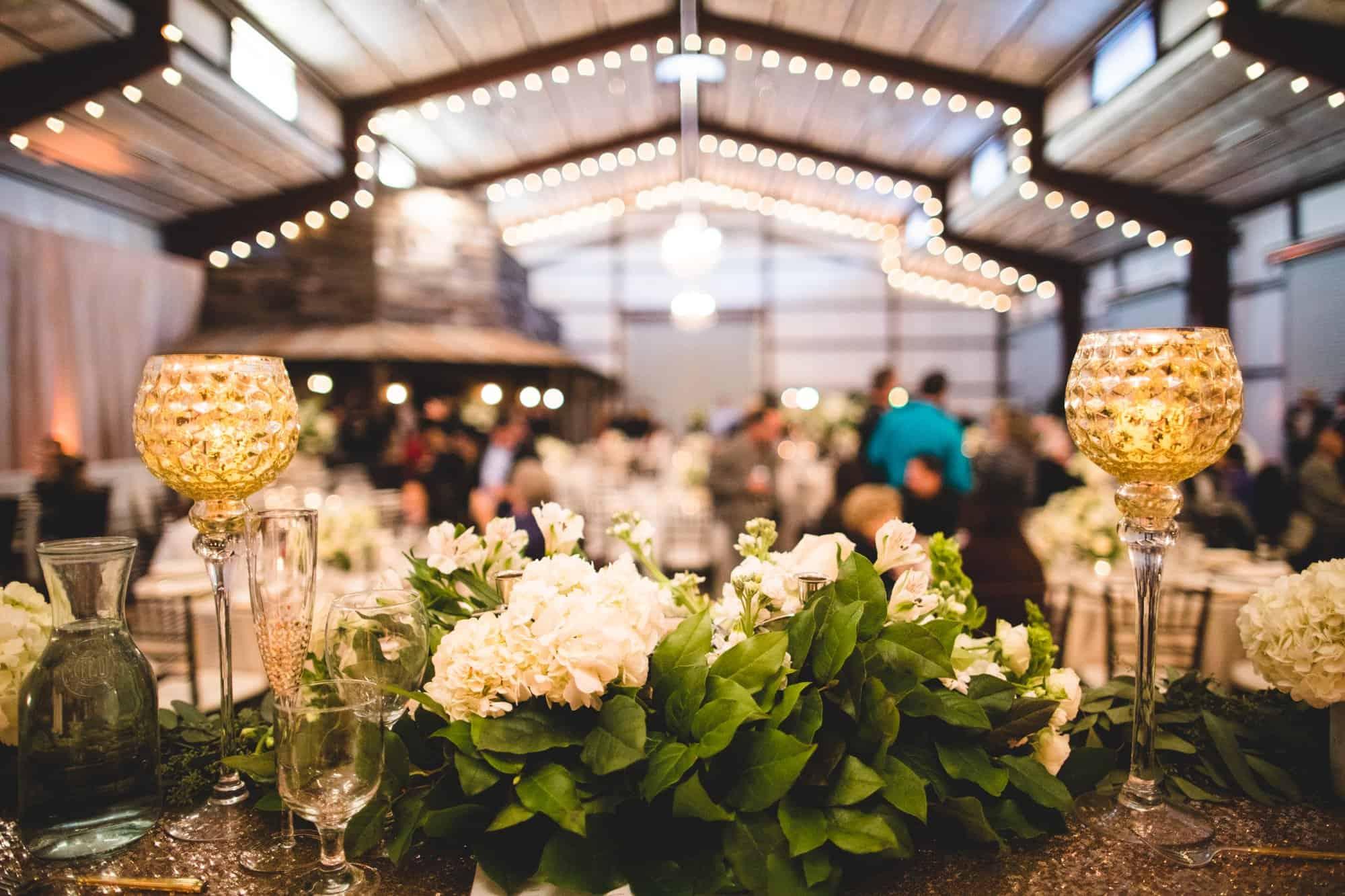 barn Wedding Reception details