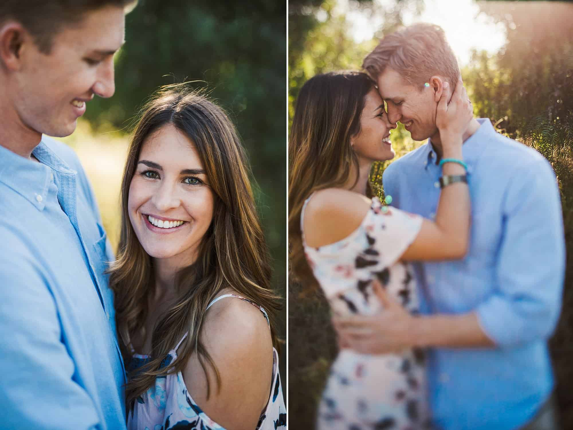 california coast engagement session