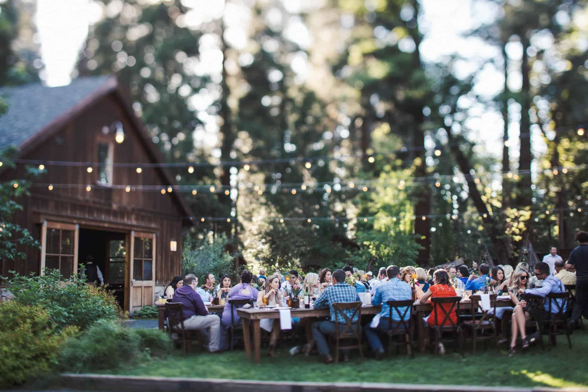 evergreen lodge wedding reception