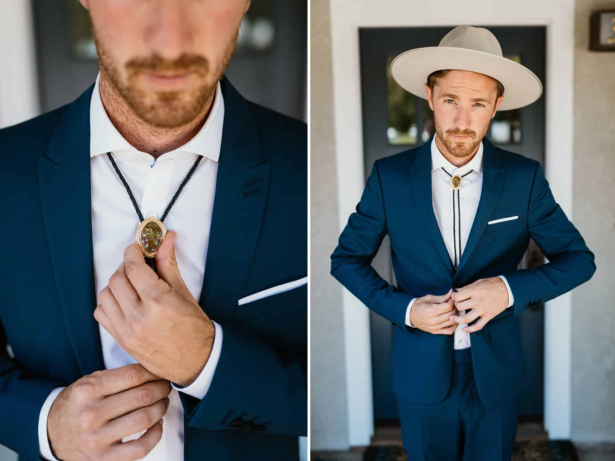hipster wedding groom