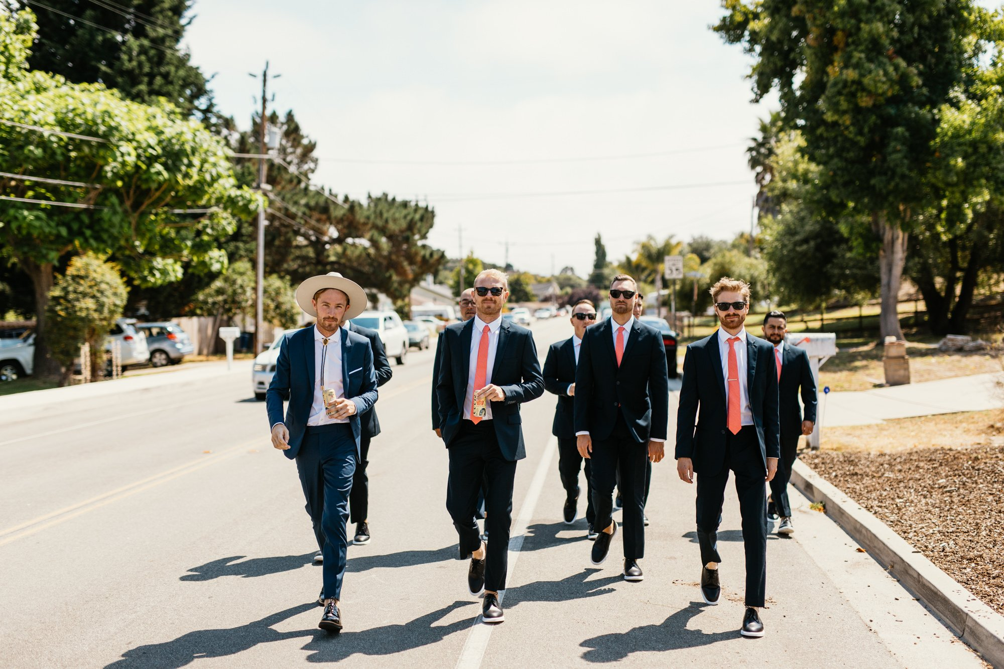 san luis obispo wedding groomsmen