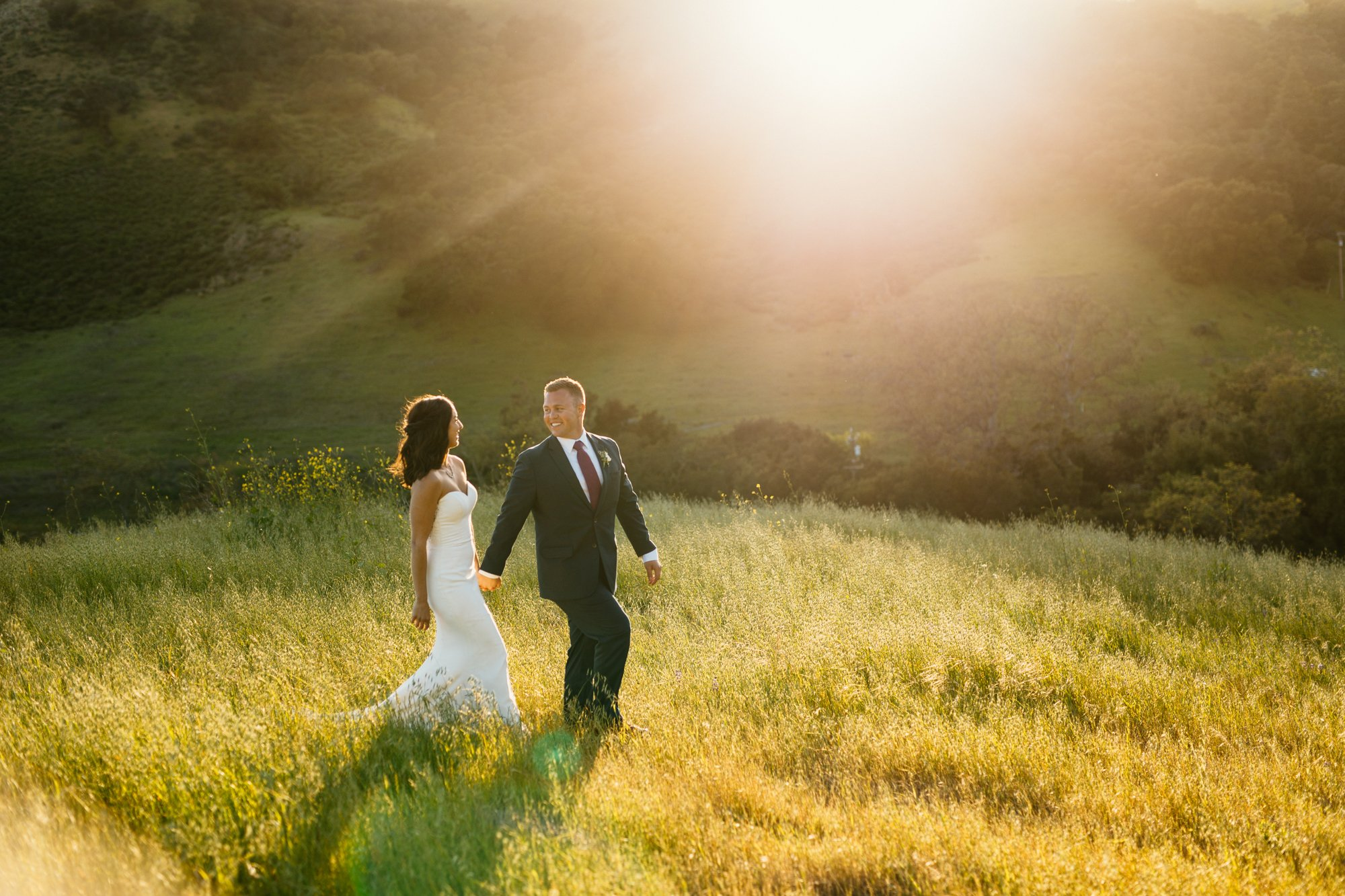 higuera ranch wedding sunset photos