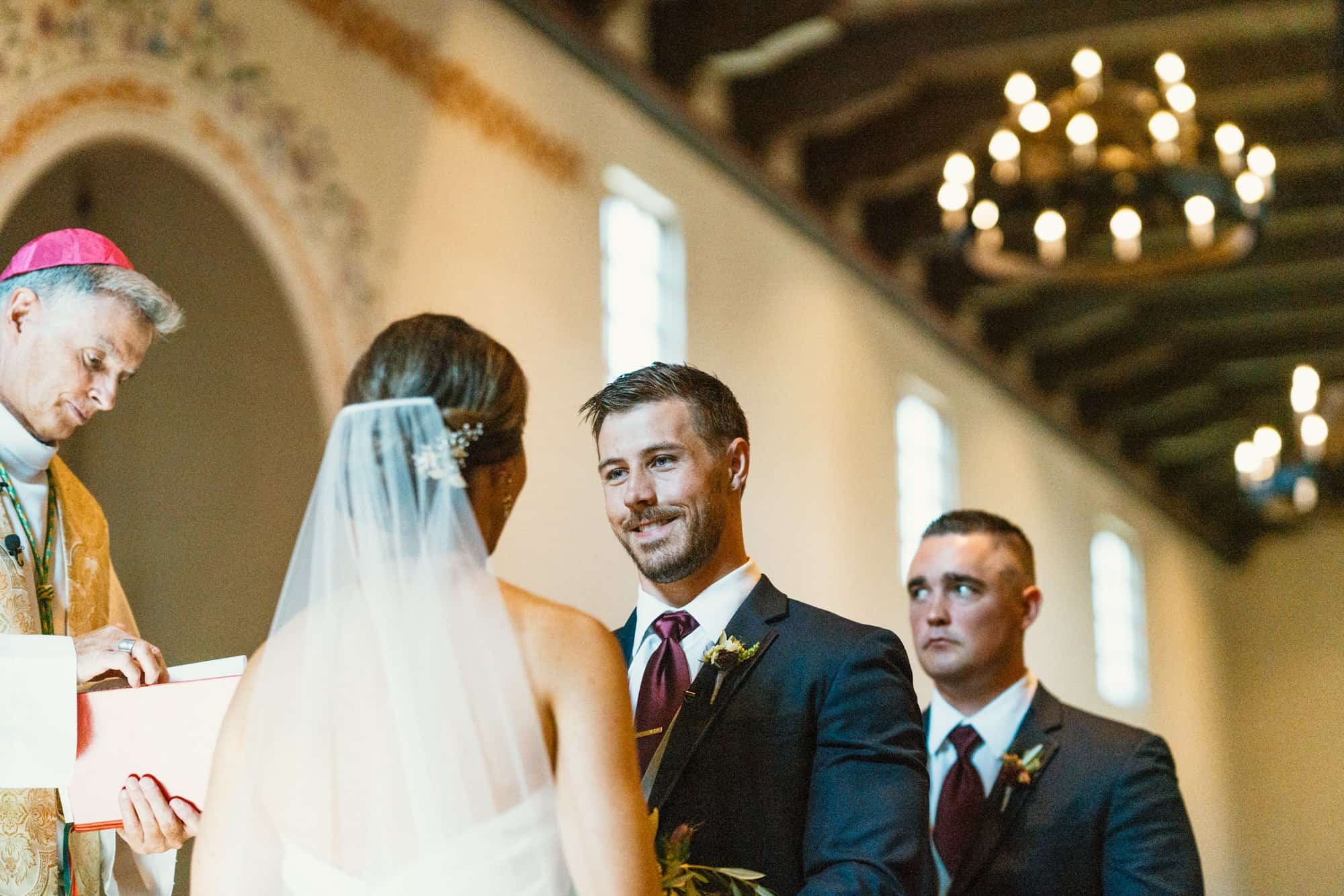 san luis obispo mission wedding ceremony