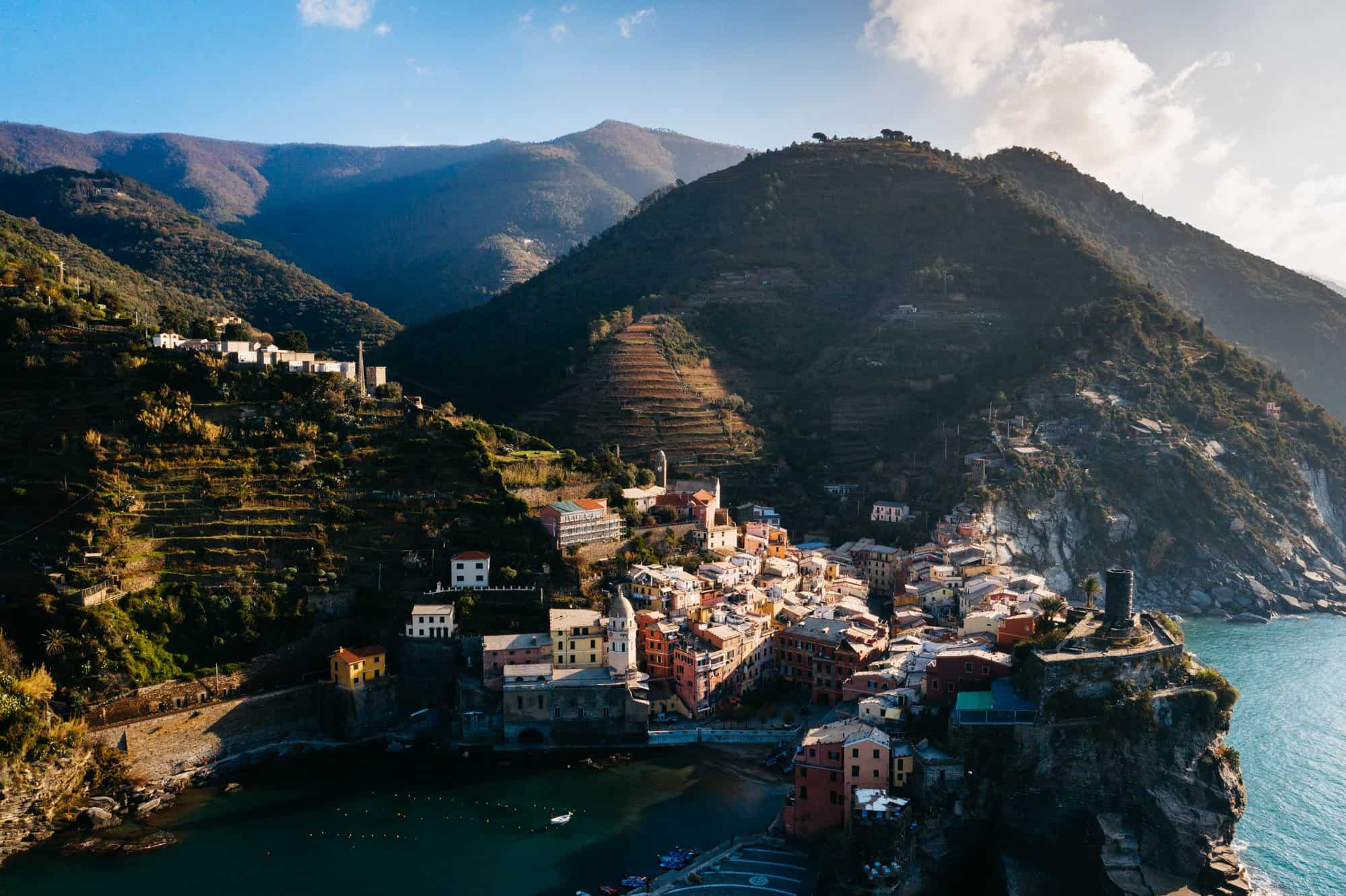 vernazza Italy drone