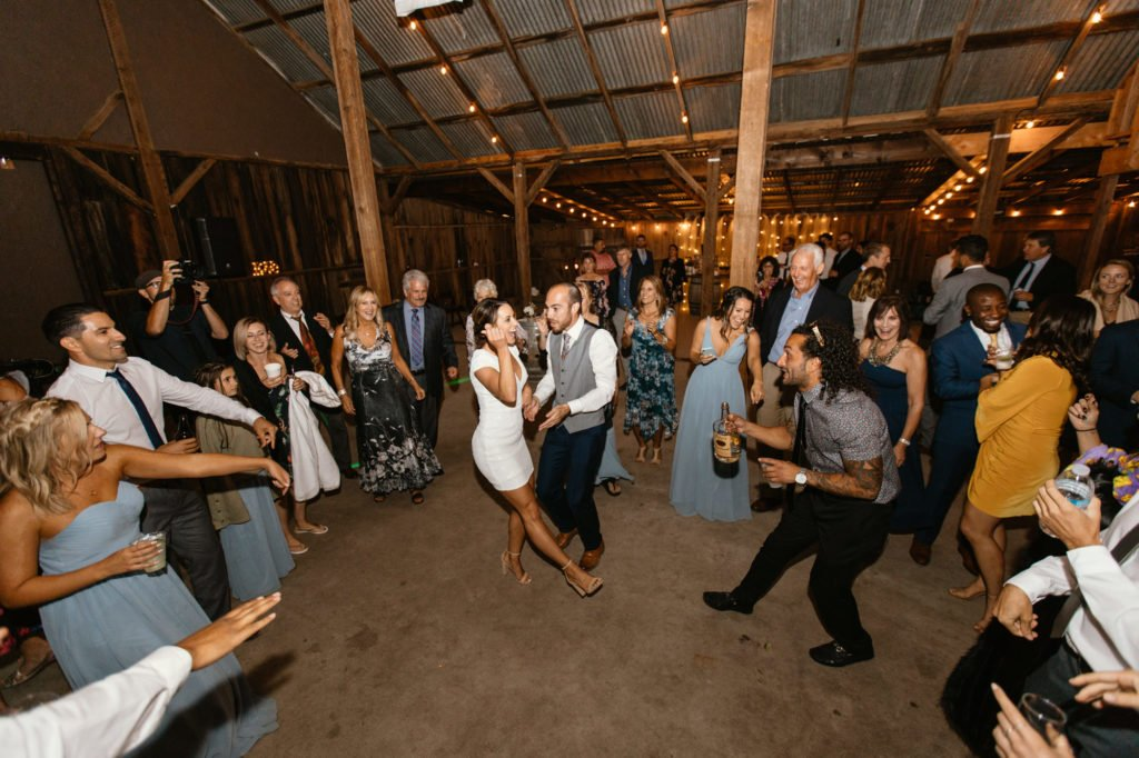 barn wedding at higuera ranch