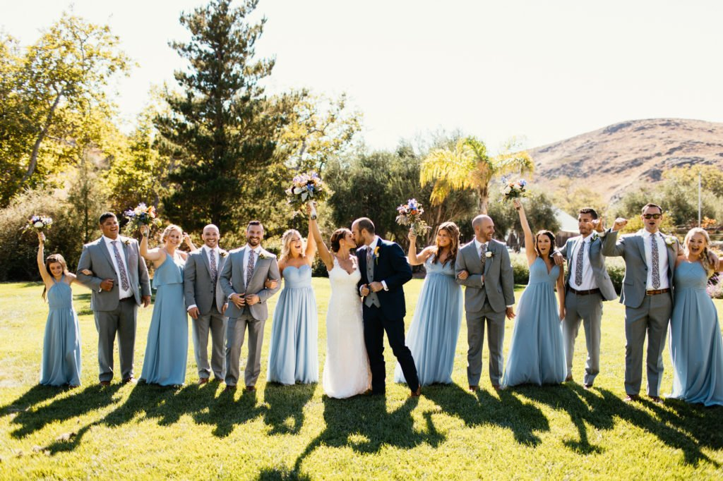 bridal party at higuera ranch