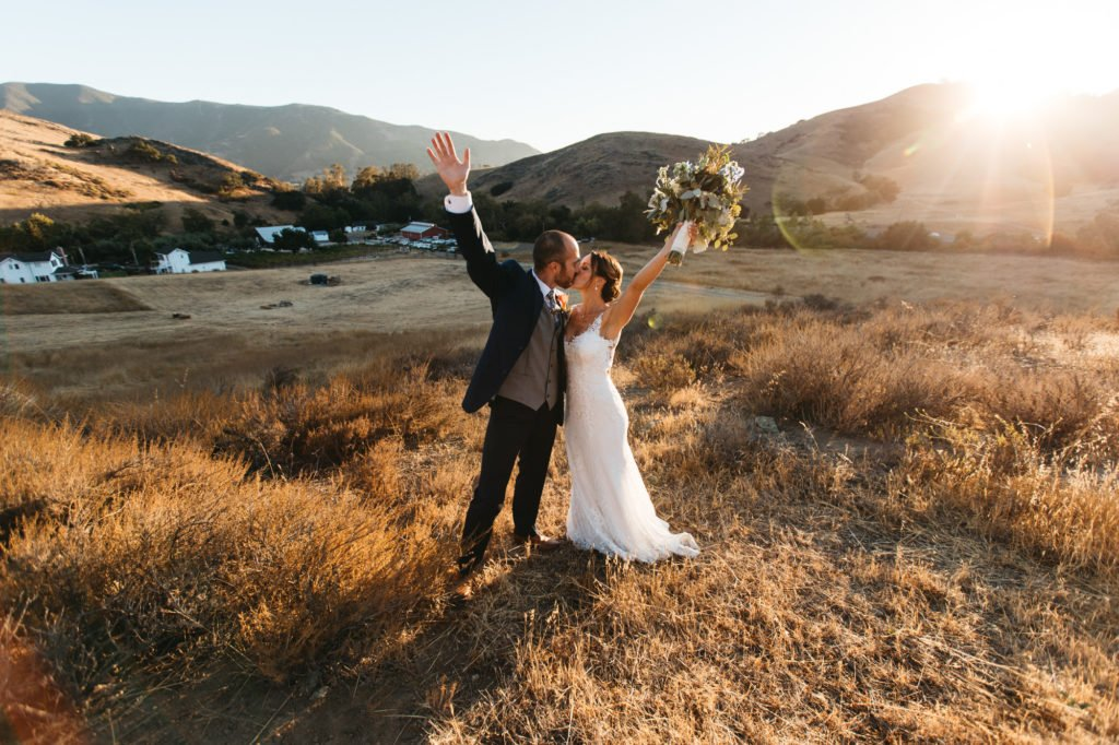 sunset higuera ranch wedding