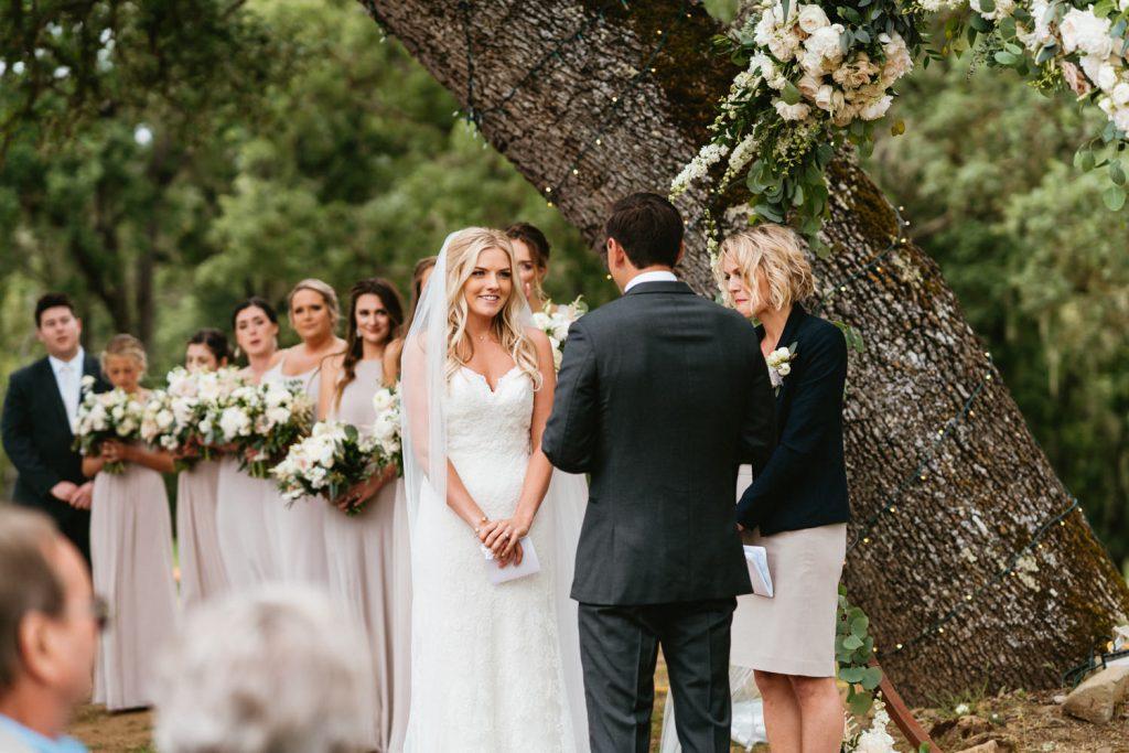 wedding ceremony ranch