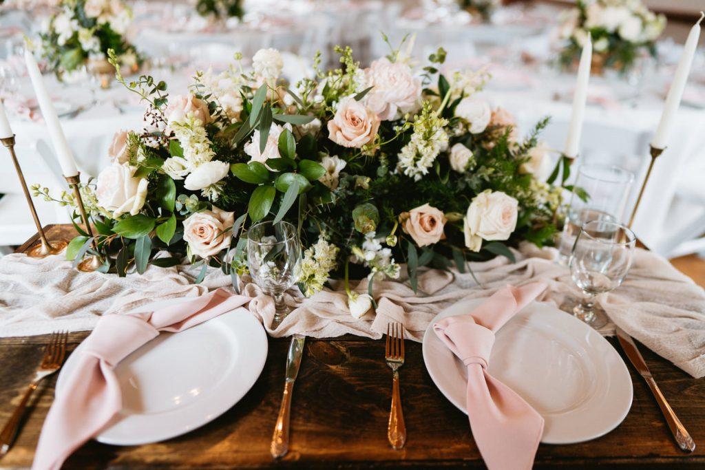 Couples table wedding reception