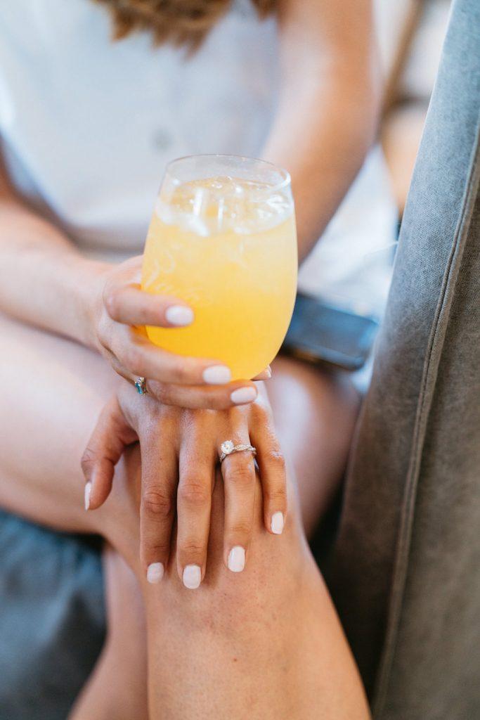 wedding ring getting ready