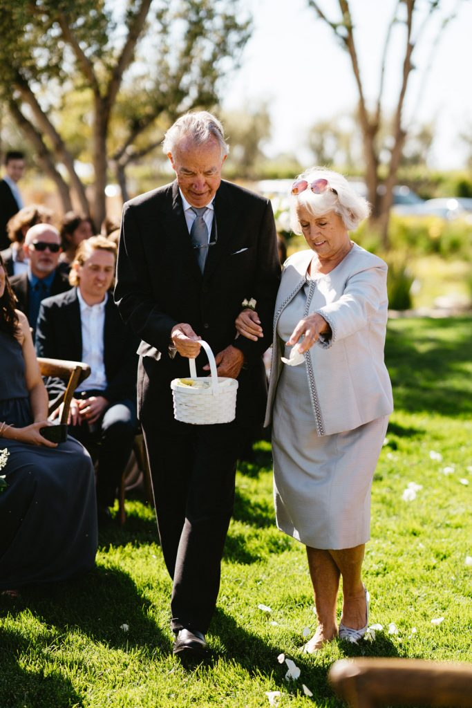 grandmother flower girl wedding